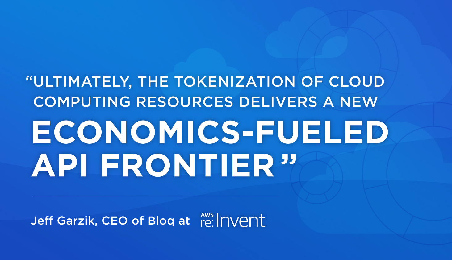 Talking Tokenization of Cloud Services at AWS ReInvent