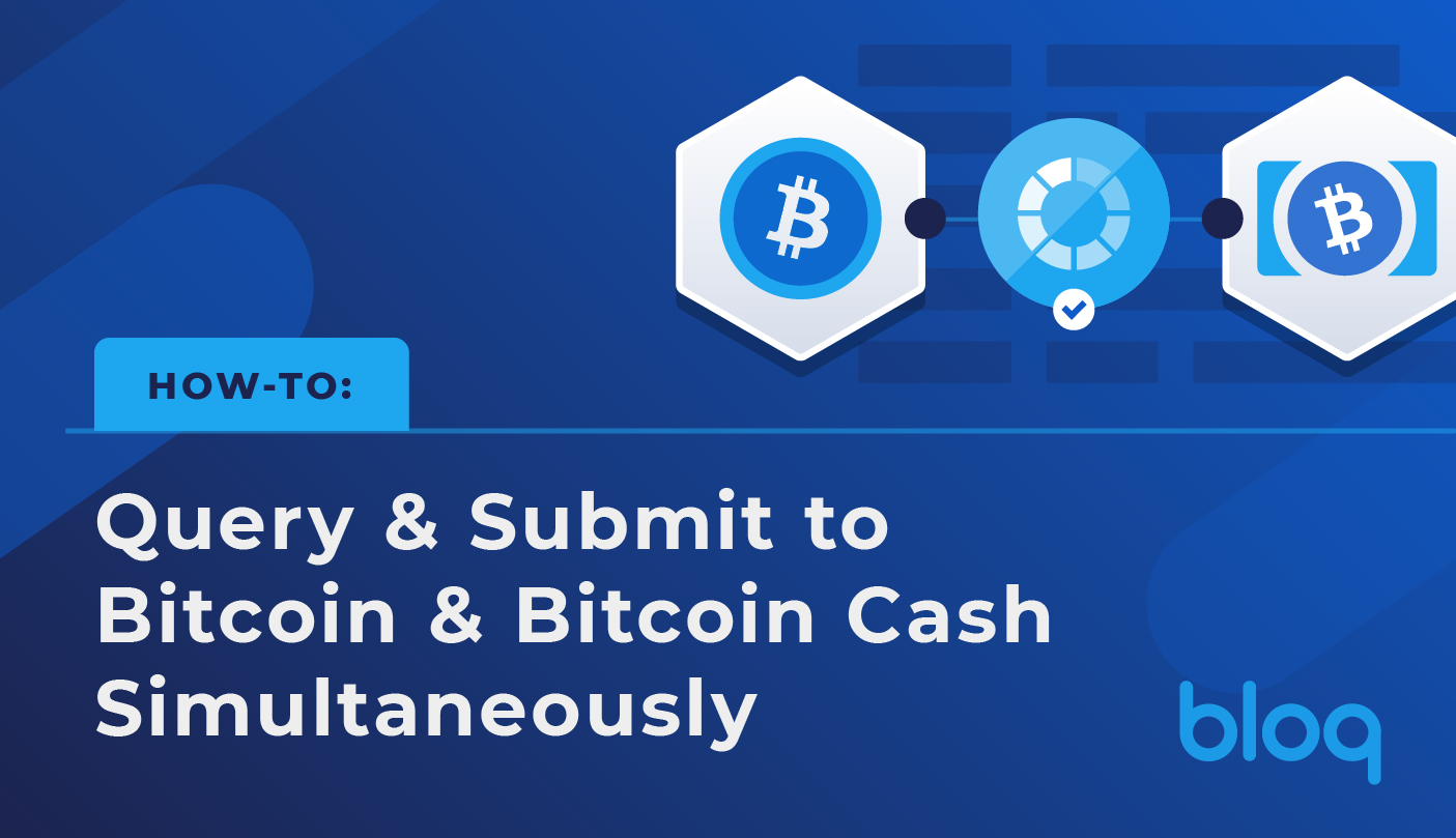 How to: Query/Submit on Bitcoin and Bitcoin Cash Simultaneously
